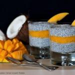 Chia pudding z mango i ml...