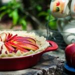 Krucha tarta z jabłkami...