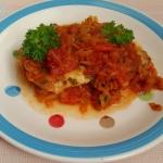 Ryba pieczona z warzywami...
