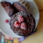 Muffiny brownie z malinam...