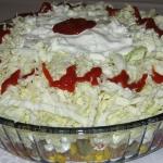 Salatka warstwowa gyros
