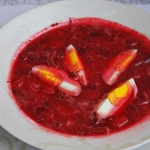 Zupa z botwinki z fasolka...