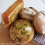 Żytni chleb na lisciach ...