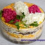 Sałatka kwiaty bzu