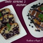 Ciasto kefirowe z jagodam...