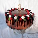 Tort malinowo czekoladowy...