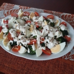 Salatka z brokulem i jajk...