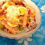 Salatka ryzowa z makrela,...