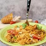 Spaghetti w kremowym...
