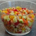 Salatka ogorkowa z fasola...