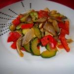 Boczniak z warzywami