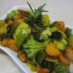 Glazurowane warzywa w mio...