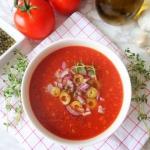 Krem z pomidorow, oliwek ...