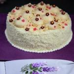 Tort  Kokosowy bukiet .