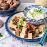 Tofu z grzybami shiitake ...