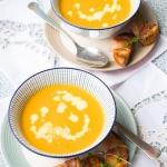 Zupa z pieczonych marchew...
