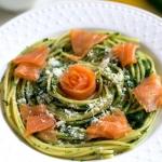 Spaghetti z lososiem oraz...