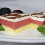 Ciasto  śliwkowa pianka