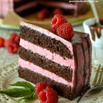 Tort czekoladowo - malino...