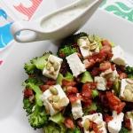 Salatka z brokulem i chru...