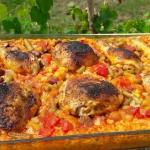 Soczysty kurczak na ryżu