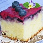 Szybkie ciasto z borowkam...