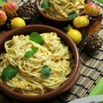 Spaghetti z sosem dyniowy...