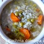 Zupa z ryżem, groszkiem...