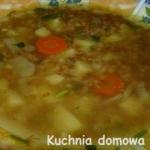 Zupa z kaszą gryczaną