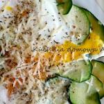 Jajka sadzone na cukinii