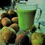 Zielony koktajl z siemien...