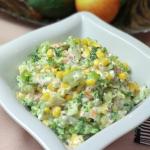 Salatka z brokulem, losos...