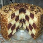 Tort kawowy szachownica z...