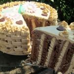 Tort bez pieczenia-herbat...