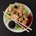 Chrupiace smazone tofu z ...