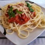 Spaghetti z kurczakiem i ...