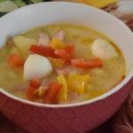 Zupa 4 sery z mozzarellą