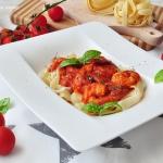 Krewetki w sosie pomidoro...