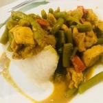 Kurczak curry z warzywami...