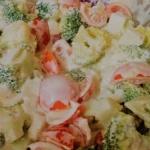 Salatka brokulowa z jajki...
