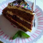 Tort z czarna porzaczka
