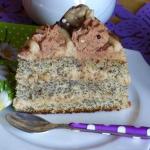 Tort makowy z kremem...