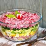 Salatka warstwowa z rzodk...