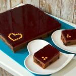 Mocno czekoladowe ciasto...