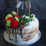Tort z kwiatami