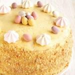 tort z kremem jajeczno-aj...