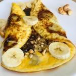Omlet z bananem, orzecham...
