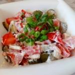 Salatka z pomidorem i ogo...