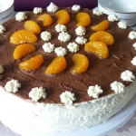 Tort czekoladowo mandaryn...