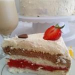 Tort biszkoptowy z galare...